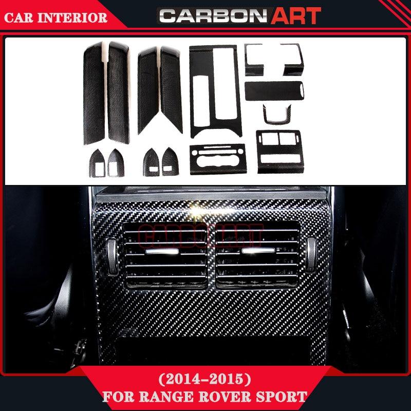 For Range Rover Sport Carbon Interior Decoration Trims Car Dash Frame Inside Parts 2014 2015 Auto Accessories
