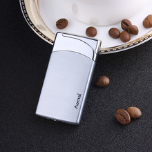 Compact Jet Gas Torch Butane Lighter Flat Windproof Metal 1300 C Cigar Cigarette Accessories No