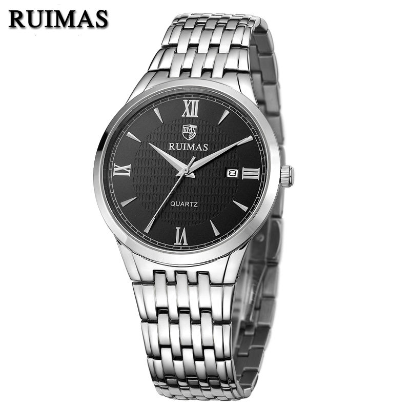 все цены на RUIMAS Brand Men Business Watch Luxury Fashion Quartz Watches Relogio Masculino Army Military Wristwatches for Male Gentleman онлайн