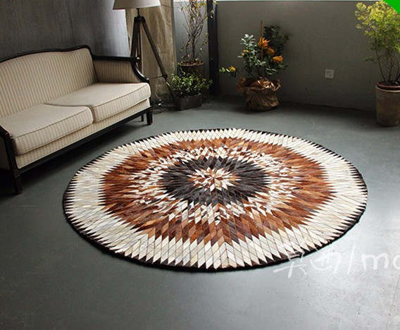 free shipping shipping 100% natural genuine cowhide chinese silk rugs on sale