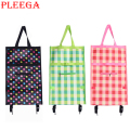 PLEEGA Brand Folding Portable Shopping Bags High Capacity Shopping Food Organizer Trolley Bag on Wheels Bag Buy Vegetables Bag