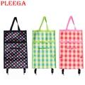 PLEEGA Brand Folding Portable Shopping Bags High Capacity Shopping Food Organizer Trolley Bag on Wheels Bag Buy Vegetables Bag