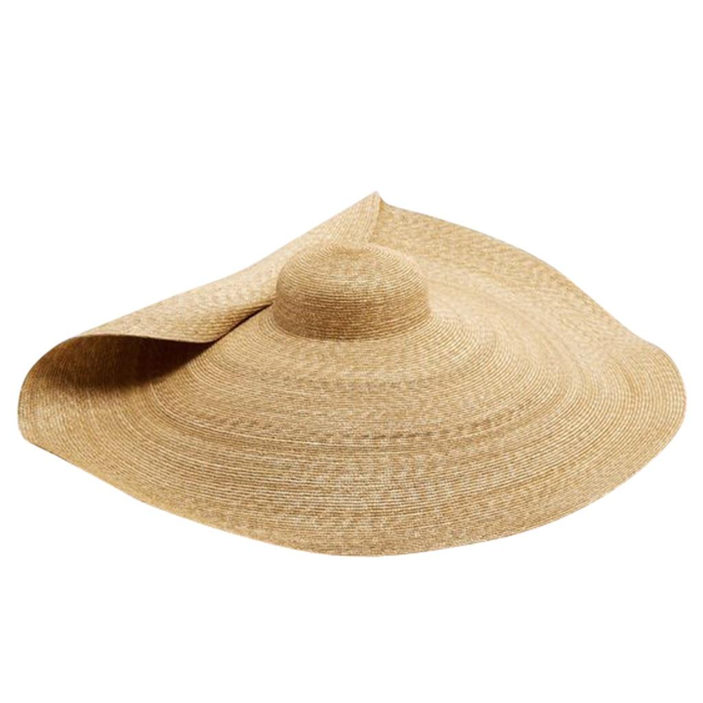 UK Fashion Foldable Women Summer Sun Hat Straw Hats Beach Sun Hat Brimmed New