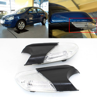 Turn Signal Light Side Mirror Assemble Indicator w/ Puffle Lamp For VW Polo 2006 2010