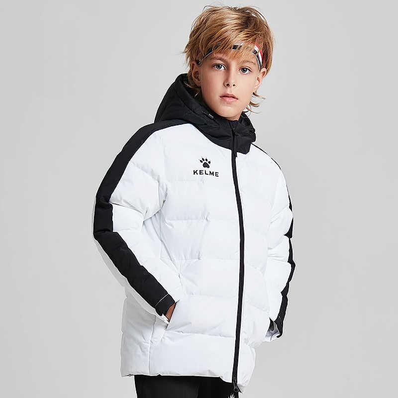 d188b52f43e Kelme de invierno de los niños de los deportes con capucha chaqueta con  capucha niños niñas