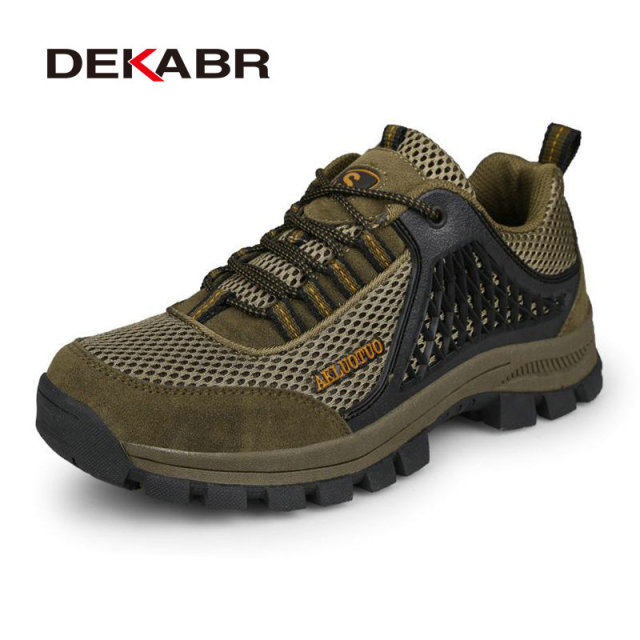 DEKABR Big Size 37-46 New Casual Rock Climbing Fashion Men Shoes Mountain Comfortable Breathable Shoes Boots Shoes