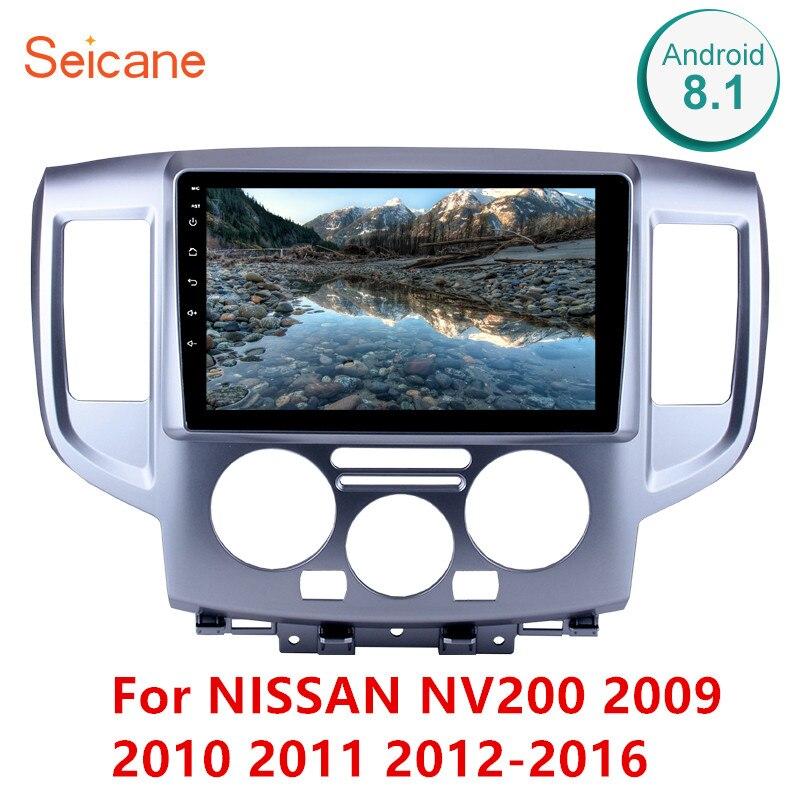 Seicane 9 Polegada 2Din Android 8.1 Unidade de Cabeça Estéreo Rádio Do Carro Wi-fi GPS Multimedia Player Para NISSAN NV200 2009 2010 2011 2012-2016
