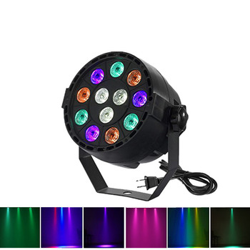 hot 2015 par led 54x3w flat led par can light high power rgbw stage lights with dmx512 master slave dj disco dmx home equipments New Professional LED Stage Lights 12 RGB PAR LED DMX Stage Lighting Effect DMX512 Master-Slave Led Flat for DJ Disco Party KTV