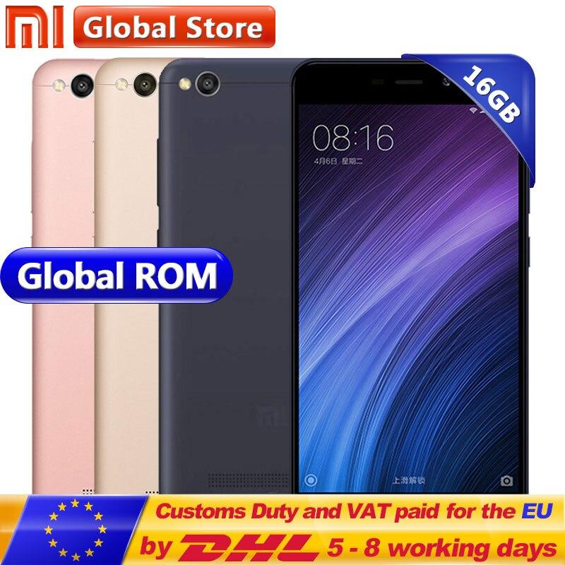 Оригинальный Xiaomi Redmi 4A 2 ГБ 16 ГБ мобильного телефона Redmi 4A 2 ГБ 16 ГБ Snapdragon 425 4 ядра CPUROM 5,0 13.0MP