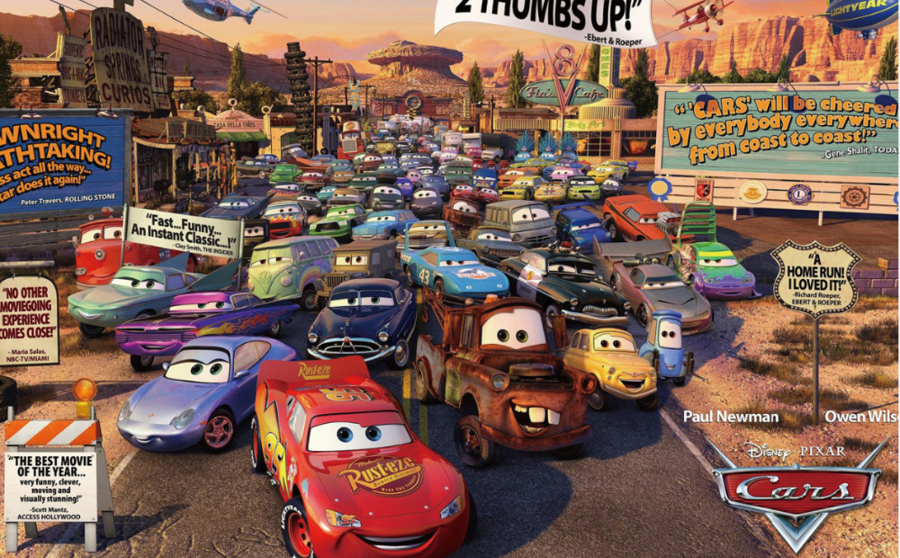 Free Shipping Cars 2 Race Movie Poster Hd Home Wall Decor Custom