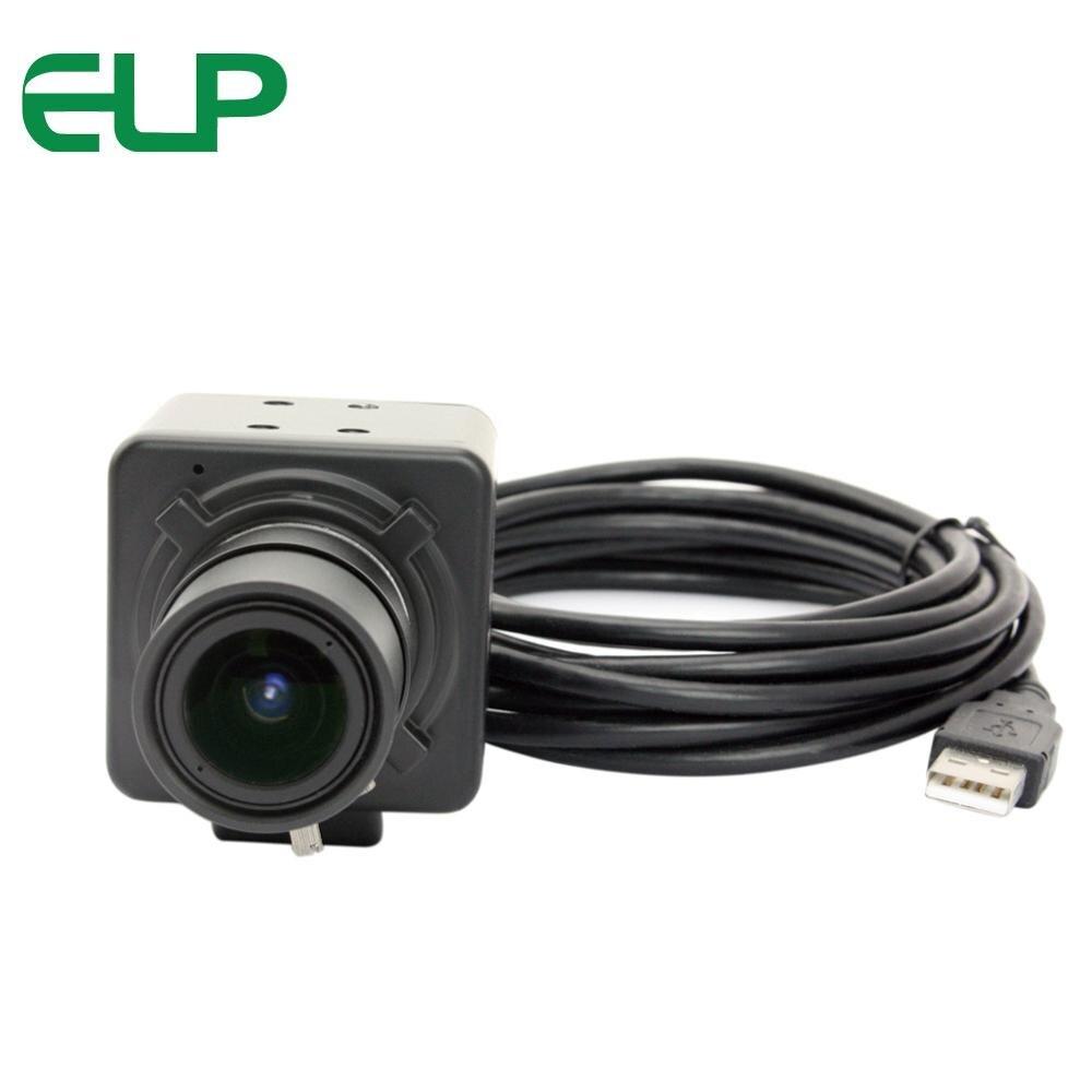 Фотография 3m cable 5-50mm varifocal lens 5MP usb box camera OV5640 cmos cctv video camera with aluminum industrial box housing