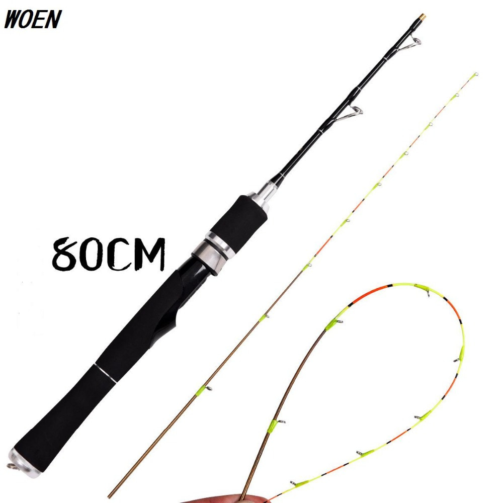 WOEN 80cm Titanium alloy Raft pole Thousand Island Lake Micro lead fishing rod Handle rod body material: carbon fiber