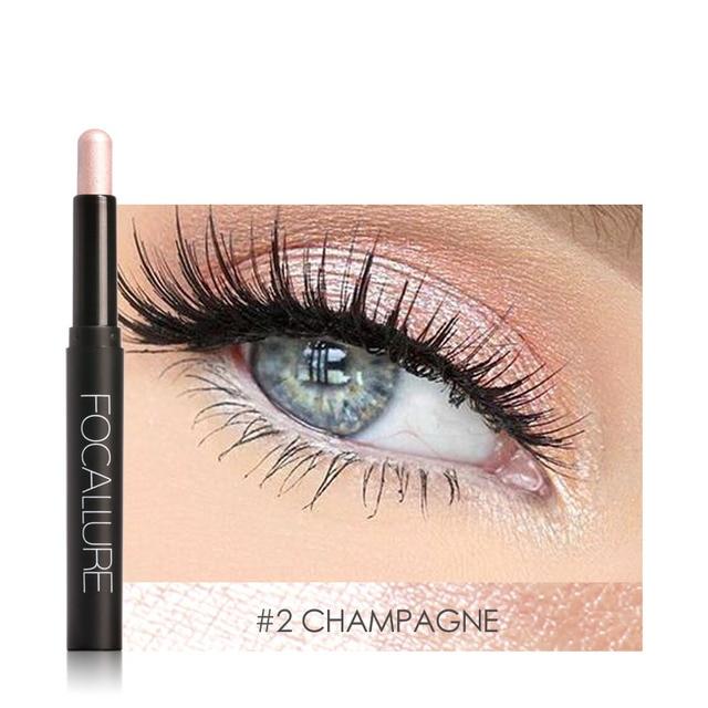 FOCALLURE shimmer eyeshadow pencil easy to wear waterproof glitter eye shadow professional makeup Gold eyeshadow stick 2