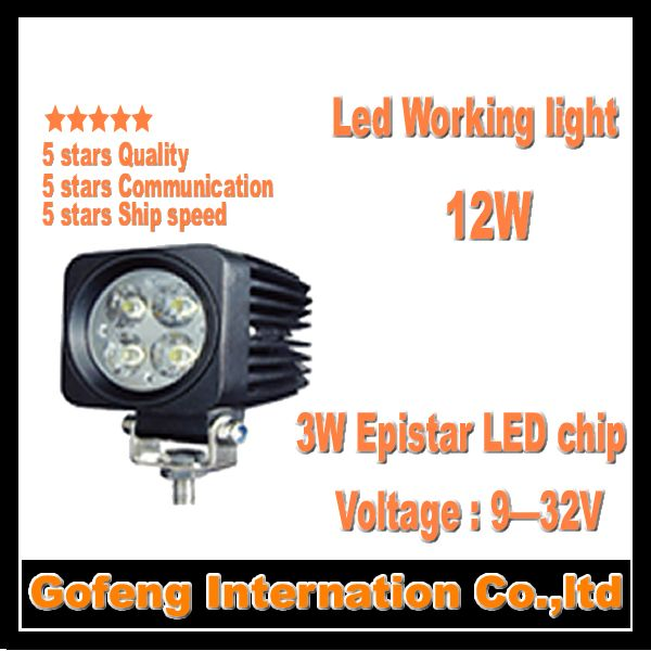 1PCS/LOT hot sales DC10-30V IP6712W led work light spot beam Offroad Truck epistar 3w ship working lamp free shipping