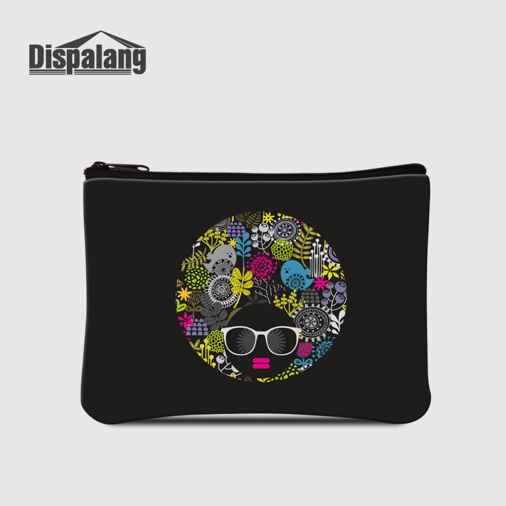 Trustful Dispalang Newest Face Painting Mini Wallet For Women Coin Purse Female Wallet/child Purse Makeup Buggy Bag Pouch Girls Coin Bags Good Reputation Over The World Coin Purses & Holders