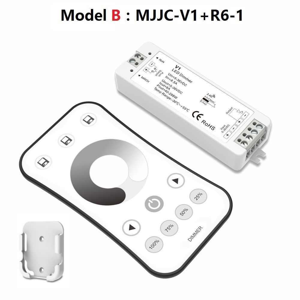 LED диммер 12 В 5 В 24 В 36 В 8A ШИМ Беспроводной rf Светодиодные ленты Диммер на с 2.4 г пульт дистанционного управления для одного Цвет LED диммер 12в диммер с пультом