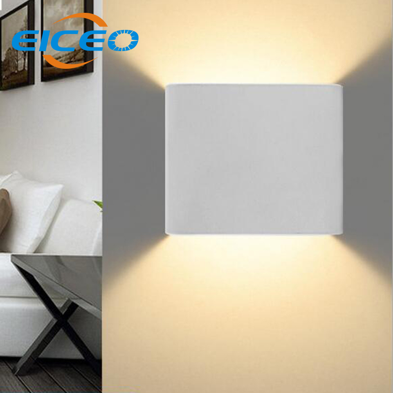 Solid Wall Lamp Led 3w Indoor Wall Light Aluminum Up Down: (EICEO) 3W LED Wall Lamp Indoor Surface Mounted Cube LED