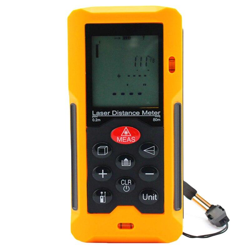 Free Shipping Original Laser Range Finder Digital Laser Distance Meter 80m HT-80 Portable Laser Measure Area/Volume Tool Meter