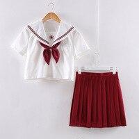 New Arrival Japanese JK Sets School Uniform Girls Sakura Embroideried Autumn High School Women Novelty Sailor Suits Uniforms XL