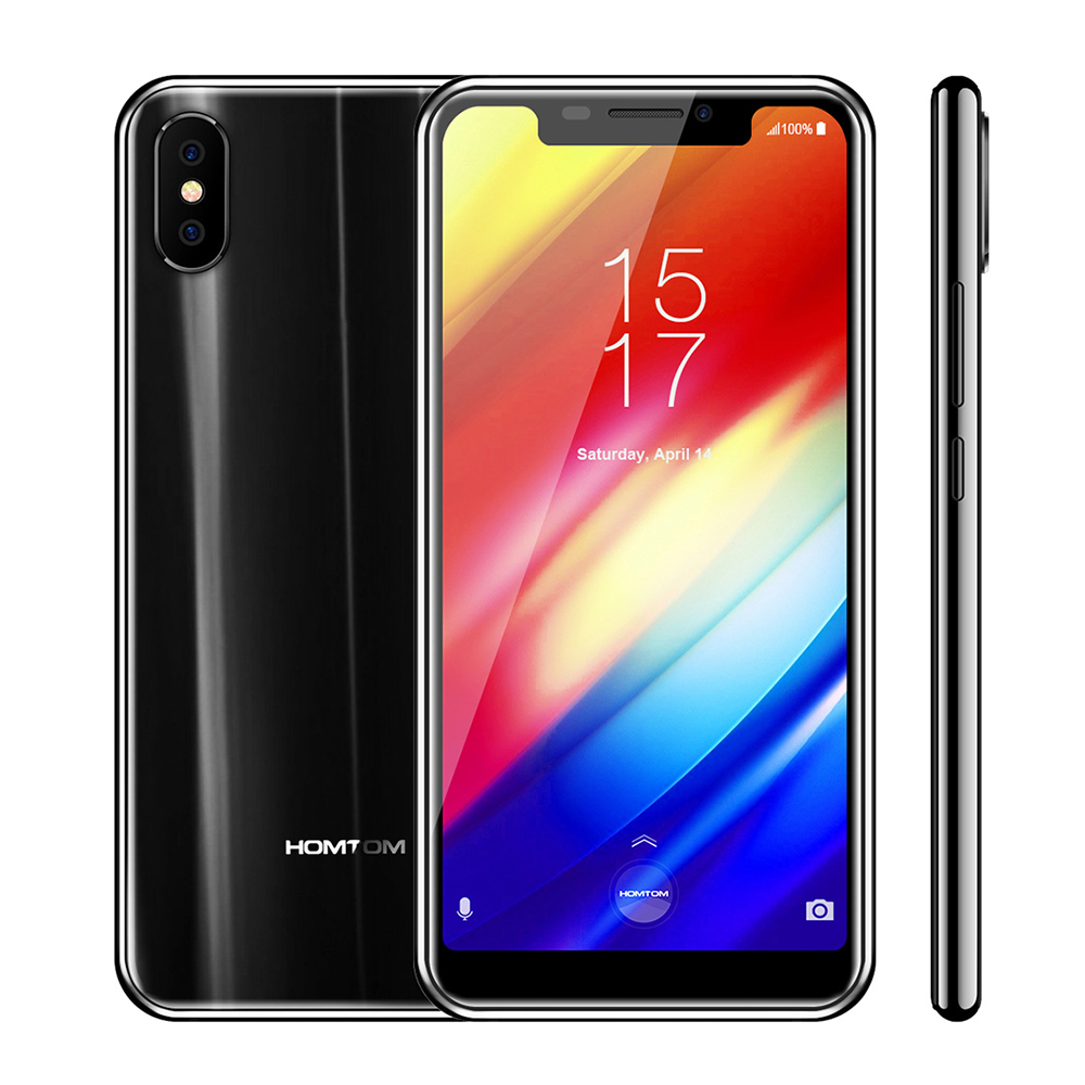 Homtom H10 4g Smartphone Android 8.1 Phablet 5.85 pouce MTK6750T Octa Core 1.5 ghz 4 gb RAM 64 gb ROM 16.0MP + 2.0MP Caméras Téléphone Portable