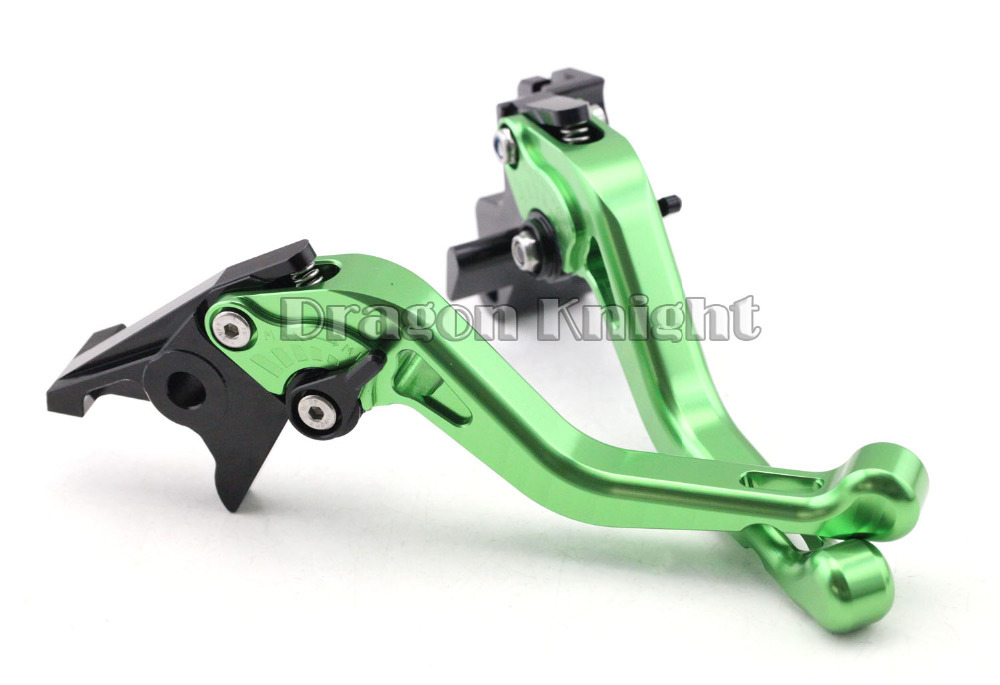 ФОТО Motocycle Accessories For KAWASAKI KLE650 VERSYS Short Brake Clutch Levers 2015 Green