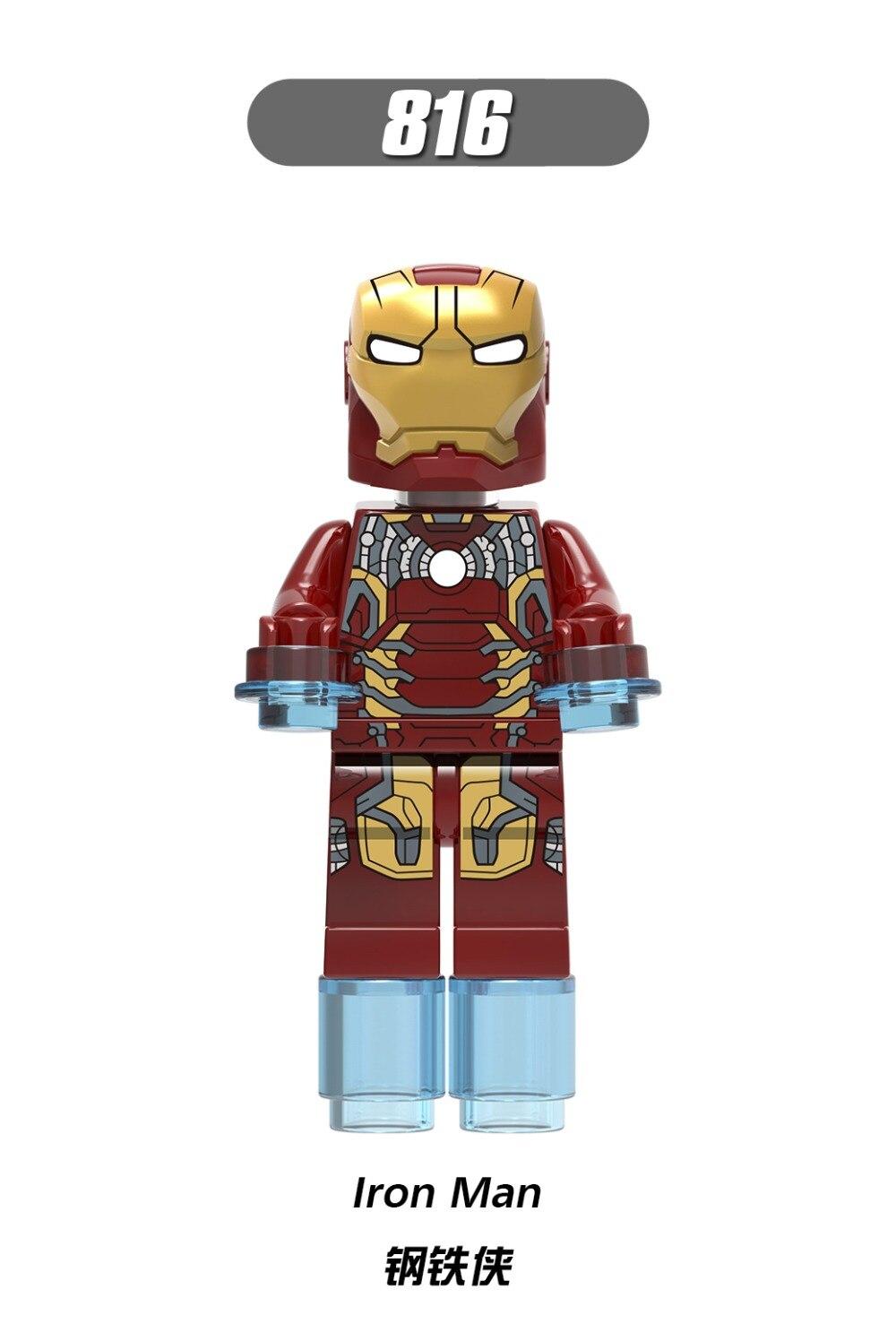 816 Legoing Marvel Super Héros Iron Man Figures Thanos Blocs Brique Infinity War Avengers Blocs De Construction Briques Jouets Legoings