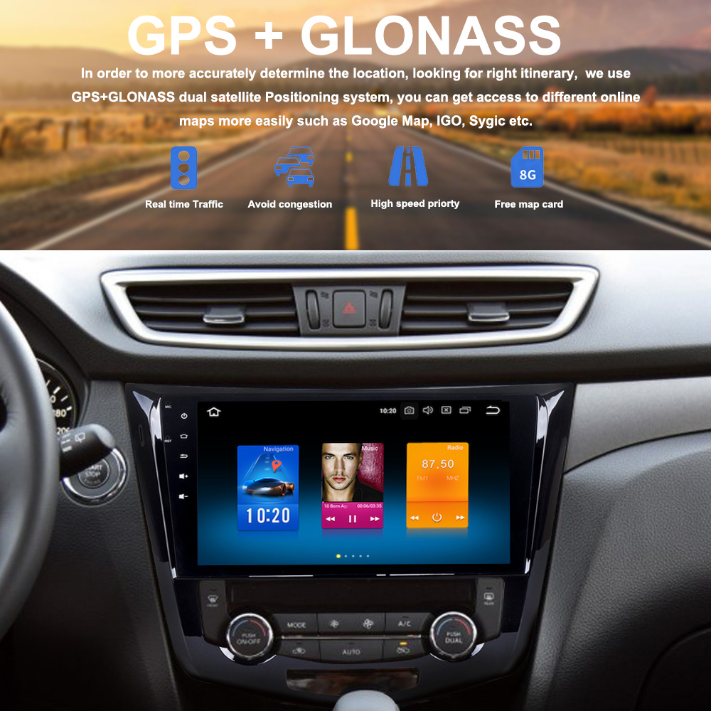 Dasaita 10.2 Android 8.0 Car Stereo Radio for Nissan X-Trail Qashqai Rouge 2014 2015 2016 2017 GPS Navigation Octa Core 4GB+32GB Head Unit