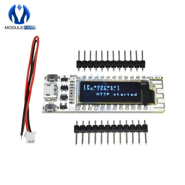Internet of Thing CP2014 ESP8266 0.91 inch OLED 32Mb Flash WIFI Module PCB Board for Arduino NodeMcu IOT Development Board