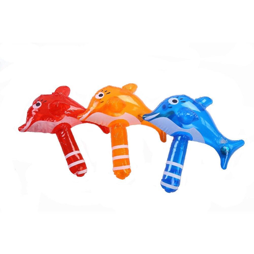 CCINEE 1 Шт. Дельфин Надувной Молоток Отбойный Молоток С Bell Дети Дети Взорвать Игрушки Небольшого Размера Надувной Игрушки