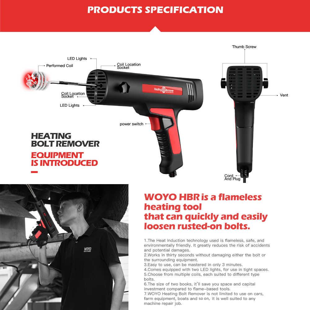 Profesional Handheld Induksi Pemanas Rilis Cepat Berkarat Sekrup dan Mur Mesin Flameless Pemanasan Baut Penghilang Alat Perbaikan