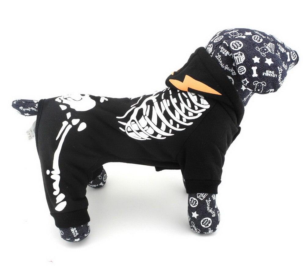 ٩(^‿^)۶Esqueleto pequeño perro patrón PET Suéteres mono perro con ...