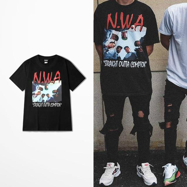 2bfb57e631 Salir Compton T camisa Nwa directamente Compton memoria de Hip Hop para  hombres