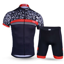 Genuine Meikroo skull cyclist  short sleeve cycling jersey sets bike race evo apparel Ropa Ciclismo for men