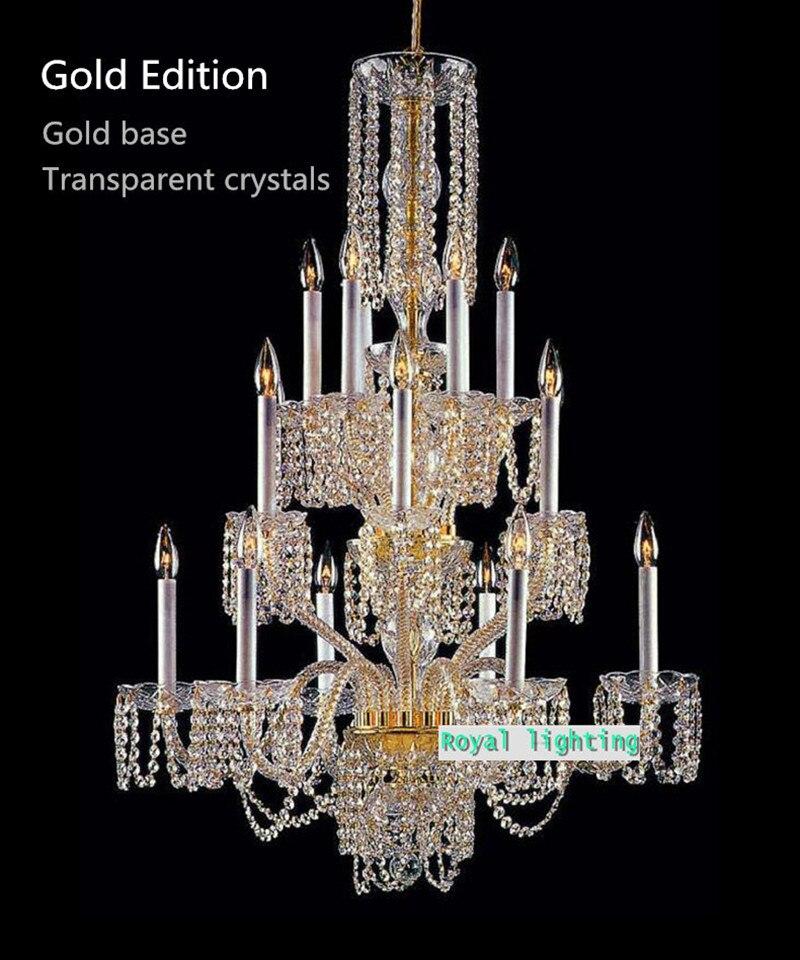 18arm lustres de cristal duplex loft large chandeliers venice white candle holder crystal chandelier tiffany lamp lighting