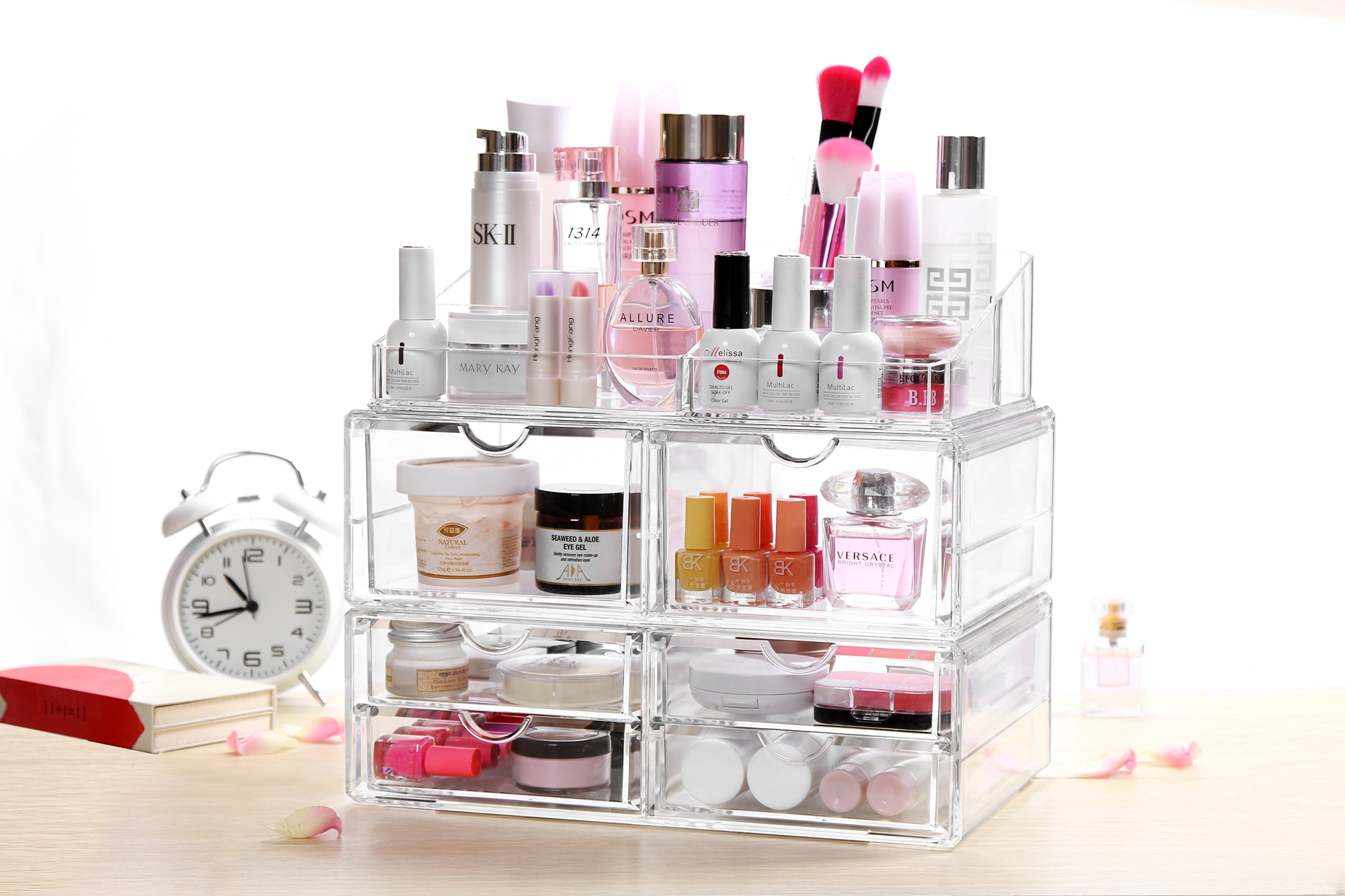 Home Storage Container 6 Drawers Acrylic Makeup Organizer Lipstick