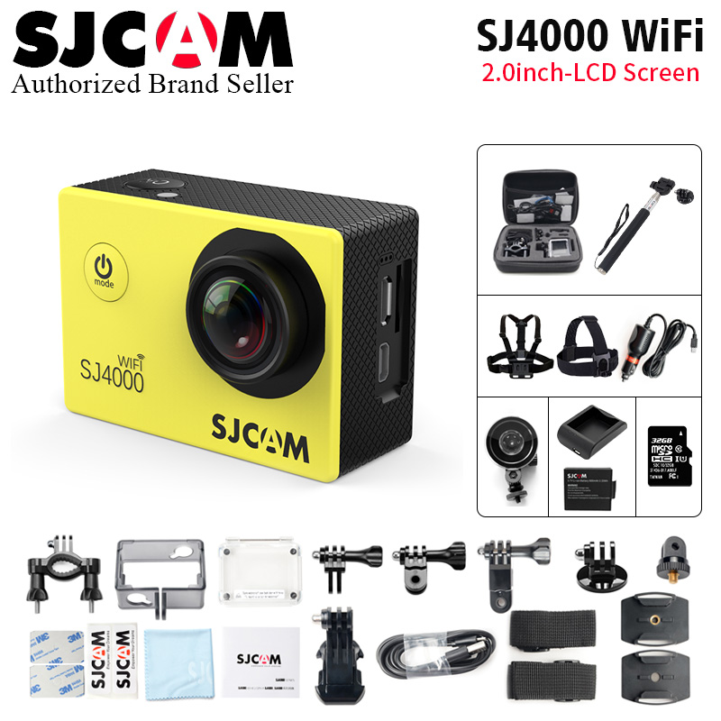 Original SJCAM SJ4000 WiFi Action Camera 2.0 Sports DV LCD Screen 1080P HD Diving 30M Novatek96655 Waterproof Car DVR Camcorder