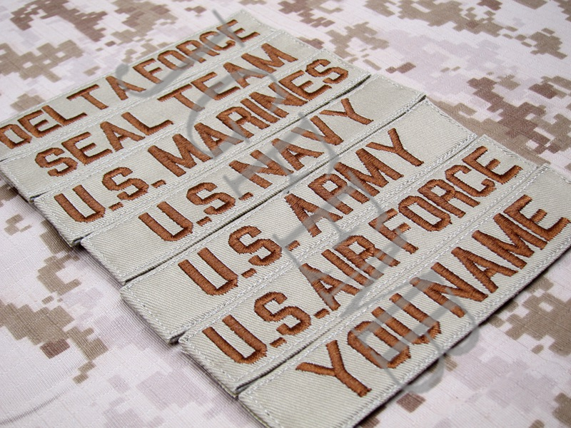 Tan Custom Name tapes Chest Tapes Services Tapes morale tactical military Embroidery patch Badges in Patches from Home Garden