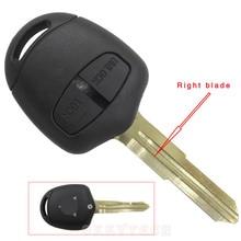 20 шт./лот 2 кнопки дистанционного ключа дело shell для mitsubishi outlander grandis pajero lancer автомобильная сигнализация крышка прямо паз с логотип
