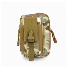 Outdoor Camouflage Nylon Wallet Bag Hiking Camping Phone Cases Bags waist Tactical Handbags