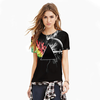 2017 Triangle Clouds T Shirt Galaxy Space 3d Print T Shirt Women Tops Outfits Summer Style