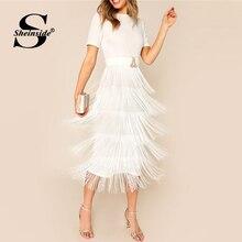 Elbise Bölünmüş Elbiseler Sheinside