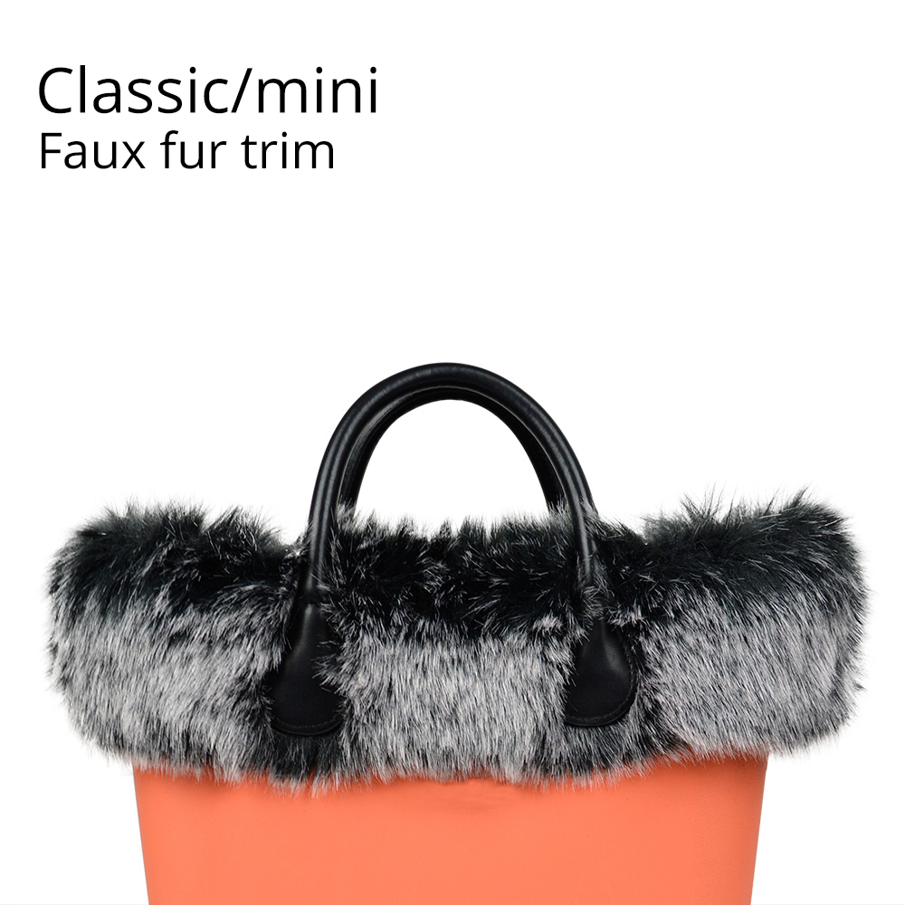 New Dyed Trim Faux Fox Fur White Black Plush Trim For O BAG Thermal Plush Decoration Fit For Classic Big Mini Obag