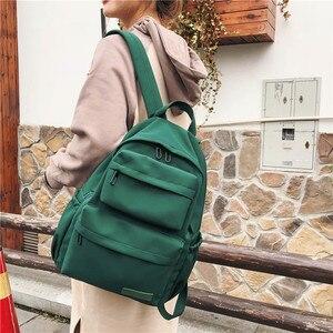 Image 3 - DCIMOR جديد مقاوم للماء النايلون على ظهره للنساء متعددة جيب حقيبة ظهر للسفر الإناث حقيبة مدرسية للمراهقات كتاب Mochilas