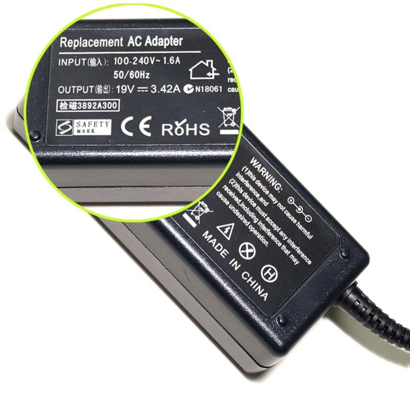 EU Power Cord Cable + 19V 3.42A AC ლეპტოპის - ლეპტოპის აქსესუარები - ფოტო 4