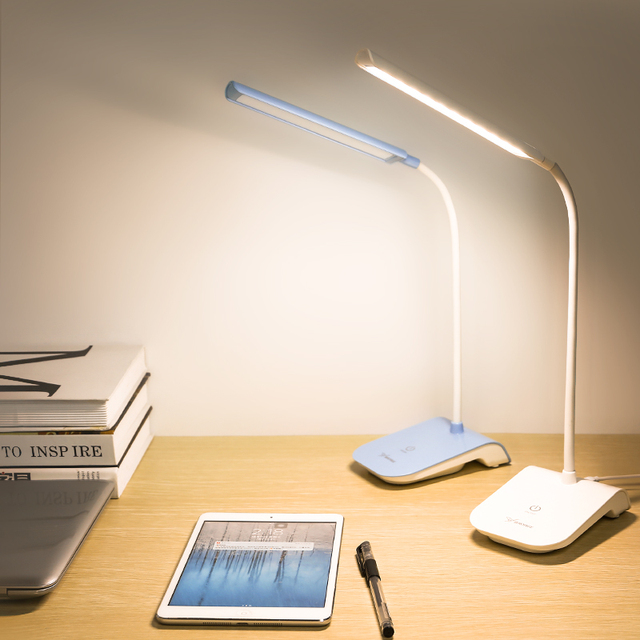 YAGE gooseneck lamp reading light usb 22 led desk clip led lights touch switch lamp with clip Removable lamp bending lamp