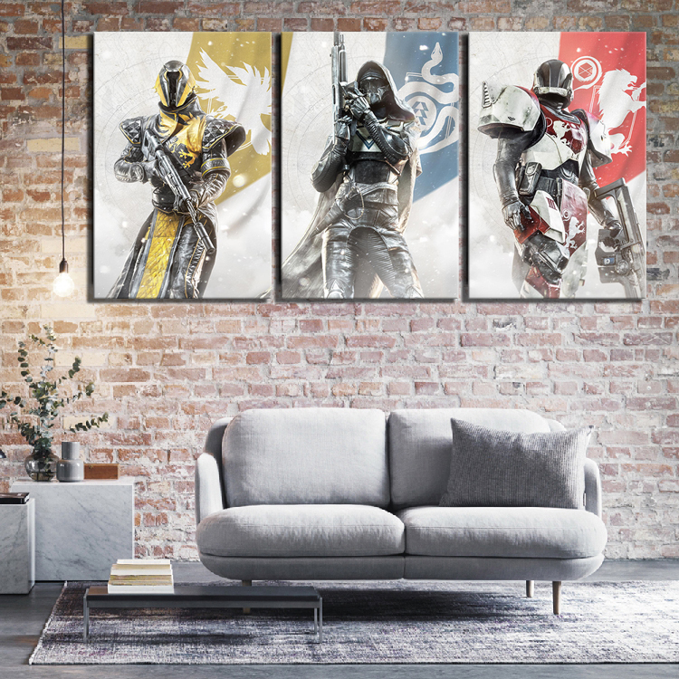 3 Piece HD Fantasy Art Pictures Destiny 2 Guardians Game Poster Canvas Paintings Wall Art for Home Decor 3