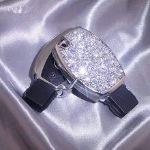 2020 lujosas estrellada cristal ostentoso de coche caso clave de Benz clase GLA GLC GLK Clase E E200L E300L E320L accesorios de coche