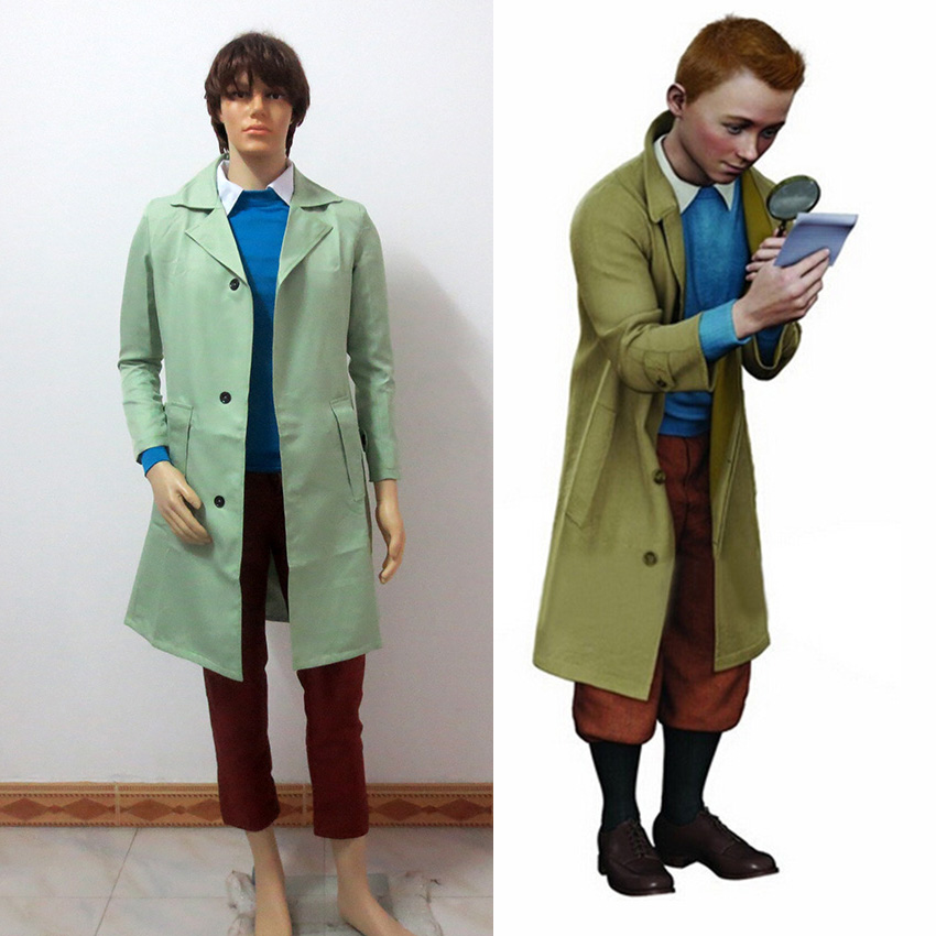 The Adventures Of Tintin Cosplay Tintin Cosplay Costume Any Size Costume Chain Cosplay