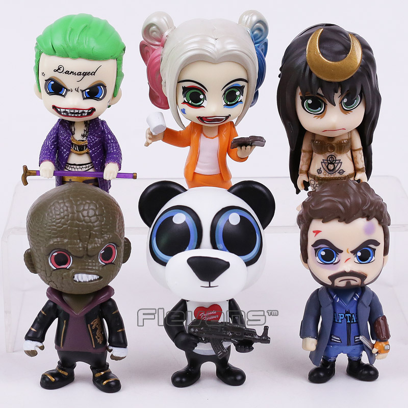 Suicide Squad The Joker Harley Quinn Killer Croc Captain Boomerang Panda Man Enchantress 6-pack PVC Figures Collectible Toys suicide squad vol 5 apokolips now
