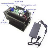 Blue Laser 15W Laser Engraving Machine Focusable High Power Laser Module 450nm TTL Analog With Power